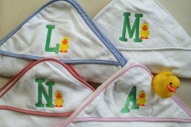 embroidered baby hooded towels