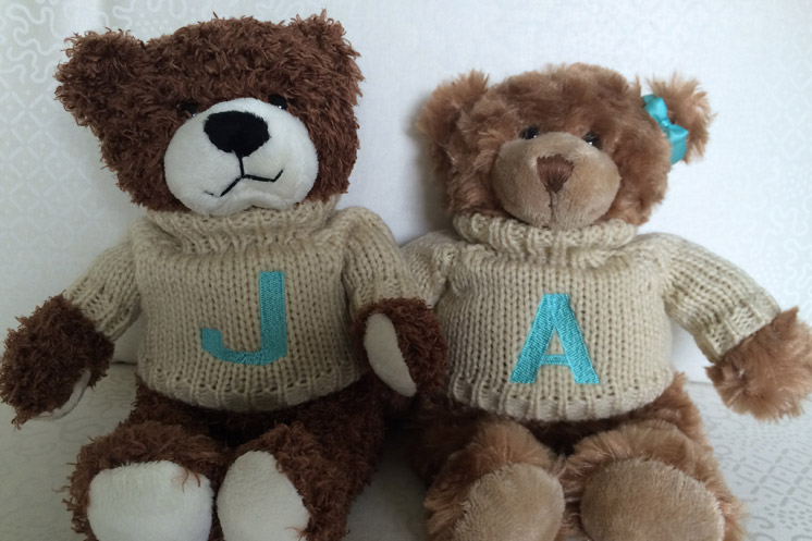 monogram teddies