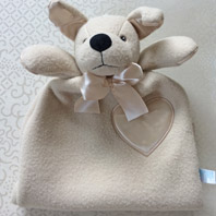 embroidered security blanket animal lovie jack terrier