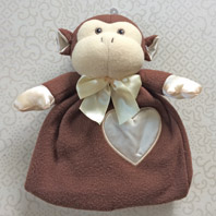 embroidered security blanket animal lovie monkey