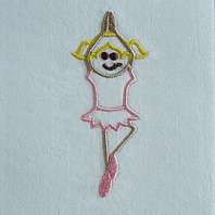 Embroidered Pillow Ballerina