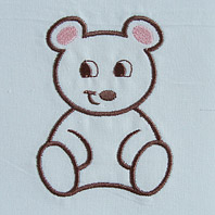 Embroidered Pillow Bear
