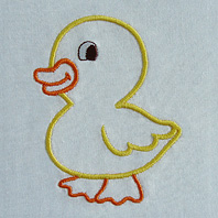 Embroidered Pillow Chick