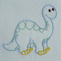 Embroidered Pillow Dino (Apatosaurus)