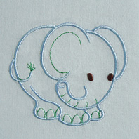 Embroidered Pillow Elephant