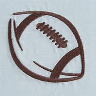 Embroidered Pillow Football
