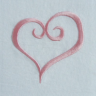 Embroidered Pillow Heart