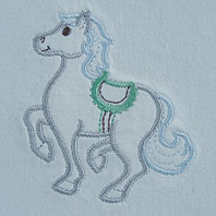 Embroidered Pillow Horse