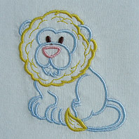 Embroidered Pillow Lion
