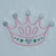 Embroidered Pillow Princess Crown