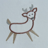 Embroidered Pillow Reindeer