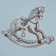 Embroidered Pillow Rocking Horse