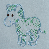 Embroidered Pillow Zebra